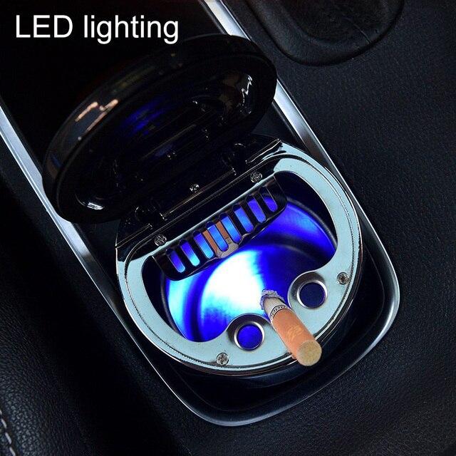 البوصلة LED منفضة سجائر متعددة وظيفة الصمام الإضاءة مضيفا الرومانسية اللون مضيئة البوصلة منفضة سجائر المدخن ختم