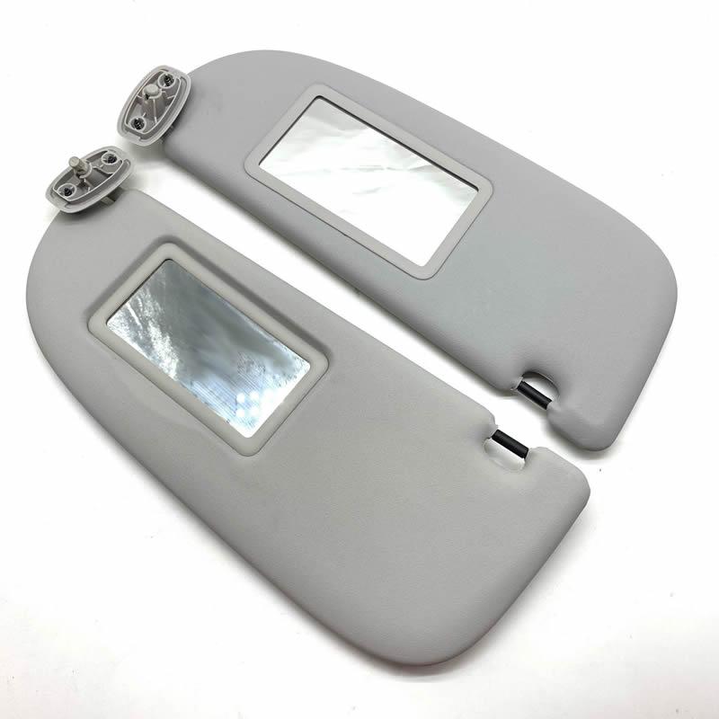 Beducht Grijs Interieur Zonneklep Met Make-up Spiegel Voor Peugeot 206 Voor Citroen C2 1999-2008 Grey Links /rechts