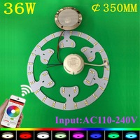 KINLAMS New RGB Cold White Warm White Dimmable 36W LED Ceiling Light With Bluetooth Music 90