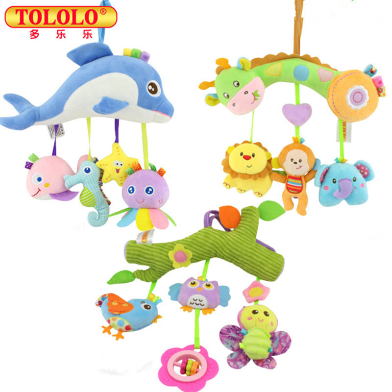 Baby Crib Musical Mobile Cot Bell Music Box Baby Bed Rattles Kids Mobility Toys Learning Education Newborn Kids Gift baby musical crib mobile bed bell baby hanging rattles rotating bracket projecting toys for 0 12 months newborn kids gift