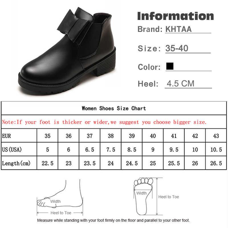 Новинка 2018, женские ботильоны, женские ботинки «Челси» с бантом и эластичной лентой, женская обувь на платформе и низком каблуке без шнуровки, модная нескользящая обувь