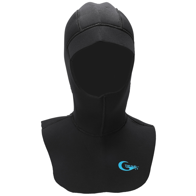 Yonsub 5Mm Neoprene Scuba Diving Hood With Shoulder Keep Warm Hat Caps Snorkeling Equipment Wetsuit Hood