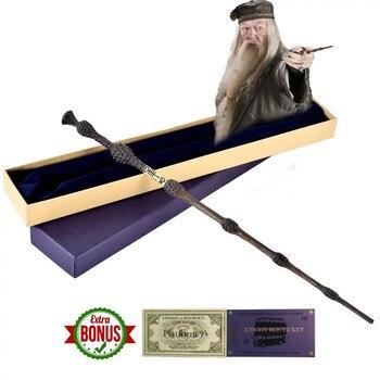 41 cm אלבוס דמבלדור Harri פוטר קסם שרביט שרביט הבכור לגרינדלוולד גלרט מתכת Core קוספליי חג המולד אוהדי מתנת ילדים