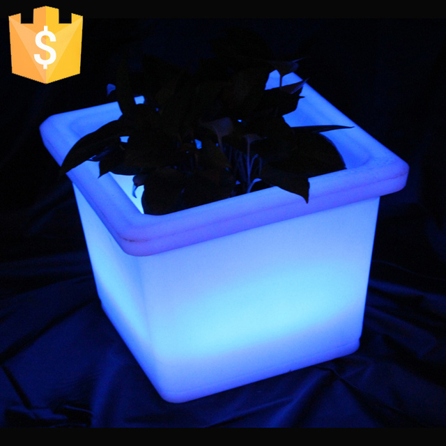 Led Light Pots Lighted Planter Commercial Planters Sk Lf13 L35 5