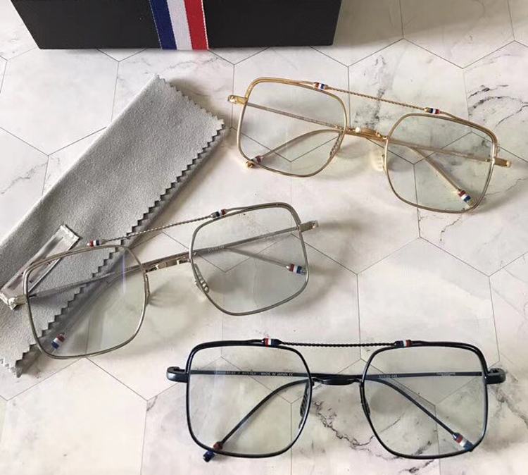 2018 New High quality metal square Eye glasses frames Thom brand for men and women simple