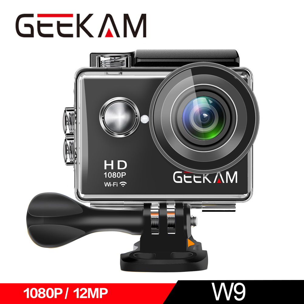 "Image 2 - GEEKAM W9 Action Camera Ultra HD 1080P 12MP WiFi 2.0"" Underwater Waterproof Helmet Video Recording Cameras Sport Cam-in Sports & Action Video Camera from Consumer Electronics"