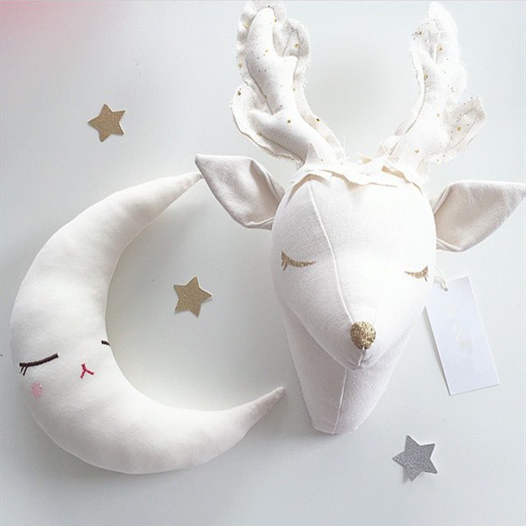 Northern Europe Entrance Deer Wall Hang INS Doll Plush Room Decoration Stuffed Animal Child Toys Xams Gift Dash Pillow Cushion фото instagram ins 40