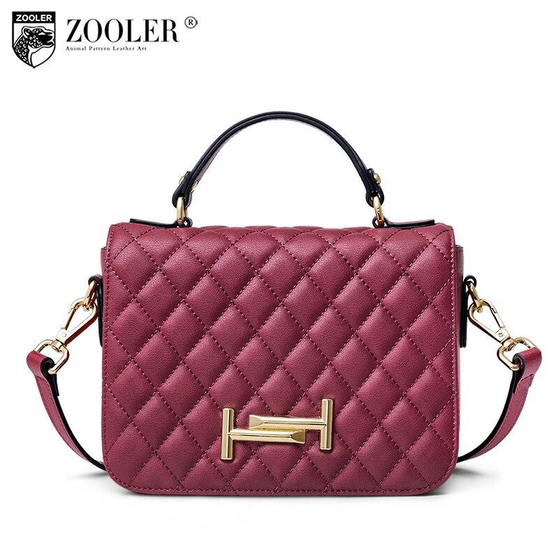 HOT ZOOLER woman leather shoulder bag luxury women bags crossbody Diamond lattice classic ladies woman messenger bags 2018 #P116 все цены
