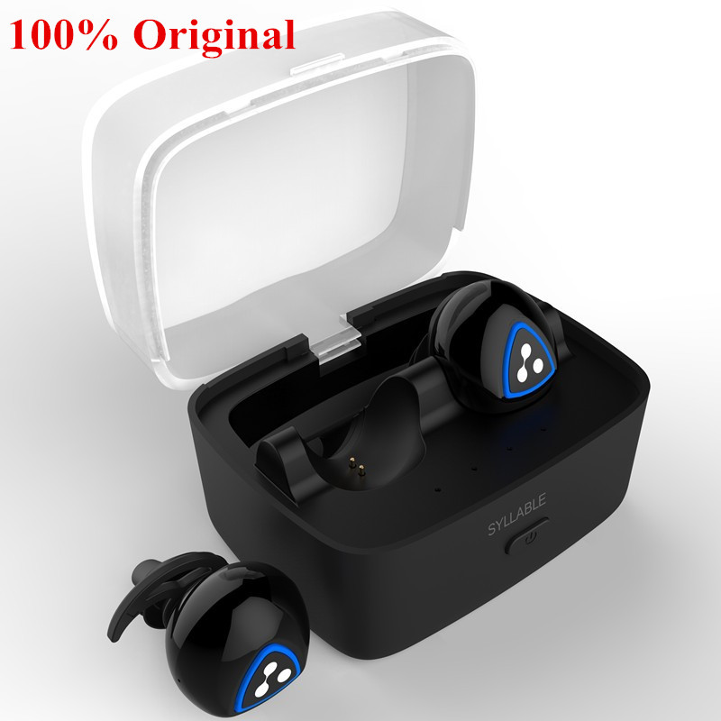 syllable d900s wireless earphones stereo sport bluetooth headset active noise canceling earbuds. Black Bedroom Furniture Sets. Home Design Ideas