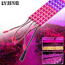 5pcs 0.5m 10W DC12V LED Grow Light Bars For Flowering Plant And Hydroponics System LED strip Lamp For Indoor Plants Flowers Tent