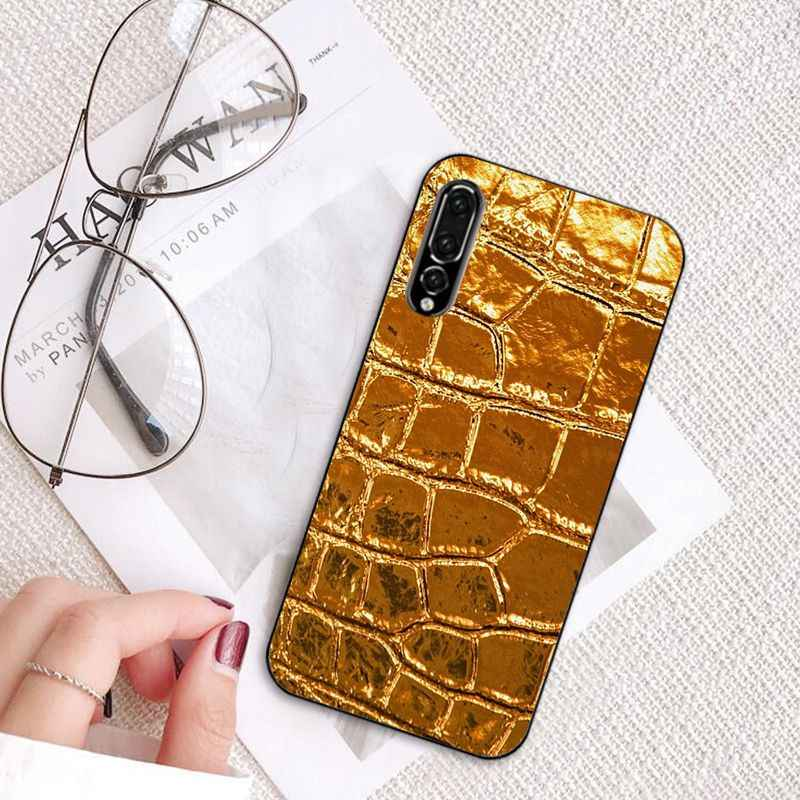 MaiYaCa python yellow gold Snake skin Black Soft Phone Case for Huawei  P20Lite P10 Plus Mate10Lite Mate20 P20 Pro Honor10 View10