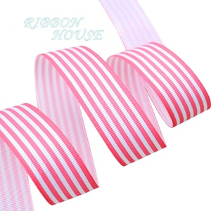 Image 4 - (10 yards/lot) 1 (25mm) Black and White Stripe grosgrain ribbon printed gift wrap decoration ribbons