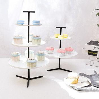 3 tiers& 2 tier black metal cake stand cupcake tray