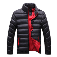 2016 Hot Plus Size M-5XL Warm Slim fit mens Down jacket Top design Cotton Down Jackets mens Winter jacket parka Free shipping