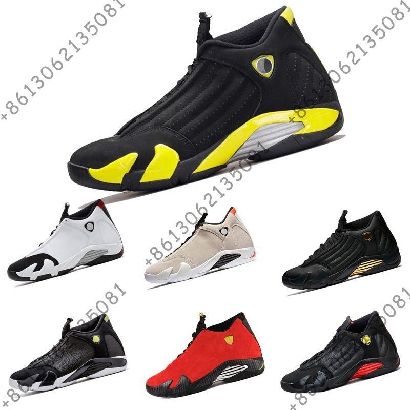 Chaussures de basket 14 14 s hommes rouge jaune tonnerre vert blanc noir Cool gris hommes baskets chaussures de sport livraison gratuite taille 8-13Chaussures de basket 14 14 s hommes rouge jaune tonnerre vert blanc noir Cool gris hommes baskets chaussures de sport livraison gratuite taille 8-13
