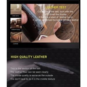 Image 5 - [DWTS] 2016 Designer Belts Men High Quality Mens Belts Luxury Crocodile Grain Belts Automatic Buckle Business Men Belt 90 125cm