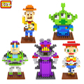 LOZ Diamond Particles Kawaii Toy Story Buzz Woody Space Aliens Building Block Educational  Toys