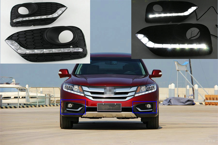 2pcs Auto LED  DRL Driving Daytime Running Light Lamp Relay 12V Daylight For Honda Crosstour 2014 2015 2016 Car Upgrade Parts new car sty ling auto lamp for honda crider 2013 2014 black color led daytime running light drl