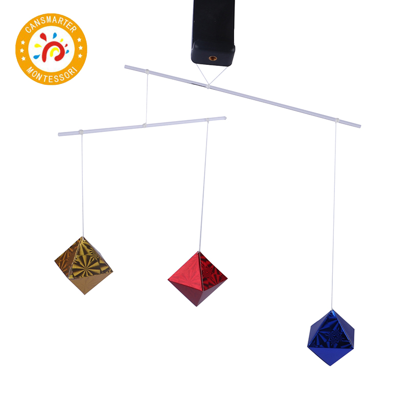 Montessori Baby Early Educational Bed Decor New Infant Mobile Baby For Newborn Improve Vision Octahedron