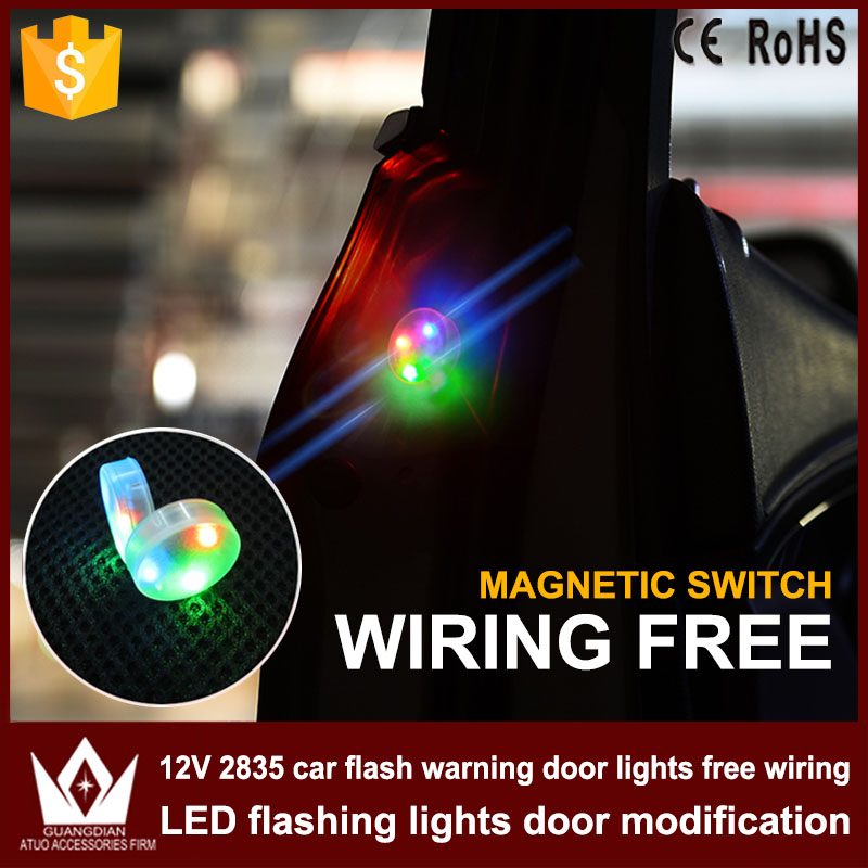 US $11 58 5% OFF Tcart 4x Car LED Door Opened Flash Warning Signal Lights  RGB Wireless Decorative Avoid Crash Lamps For Audi A3 A6 8P Accessories-in
