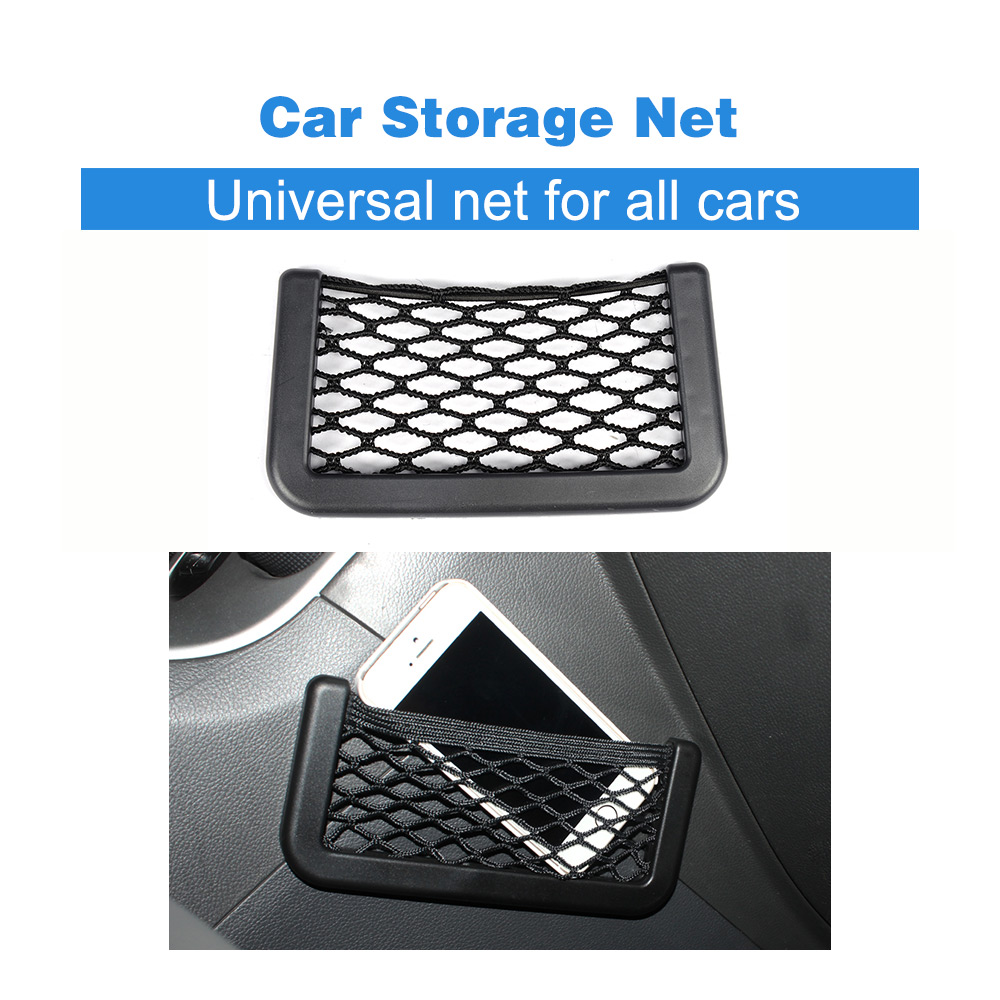 Universal Car Storage Net Automotive Pocket Organizer Bag For Phone Holder Box For All Cars Accessories 15*8cm