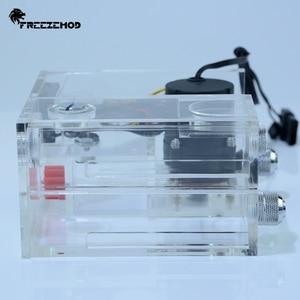 Image 2 - FREEZEMOD כפול אופטי כונן מים קירור מים טנק שולחן עבודה משולב מחברת מים משאבת תעשייתי מדחום. GQSX Y1