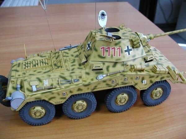 Modèle en papier à monter soi-même allemand lourd blindé voiture Sdkfz 234.2 Puma WW II garçon cadeau Papercraft 3D Puzzle