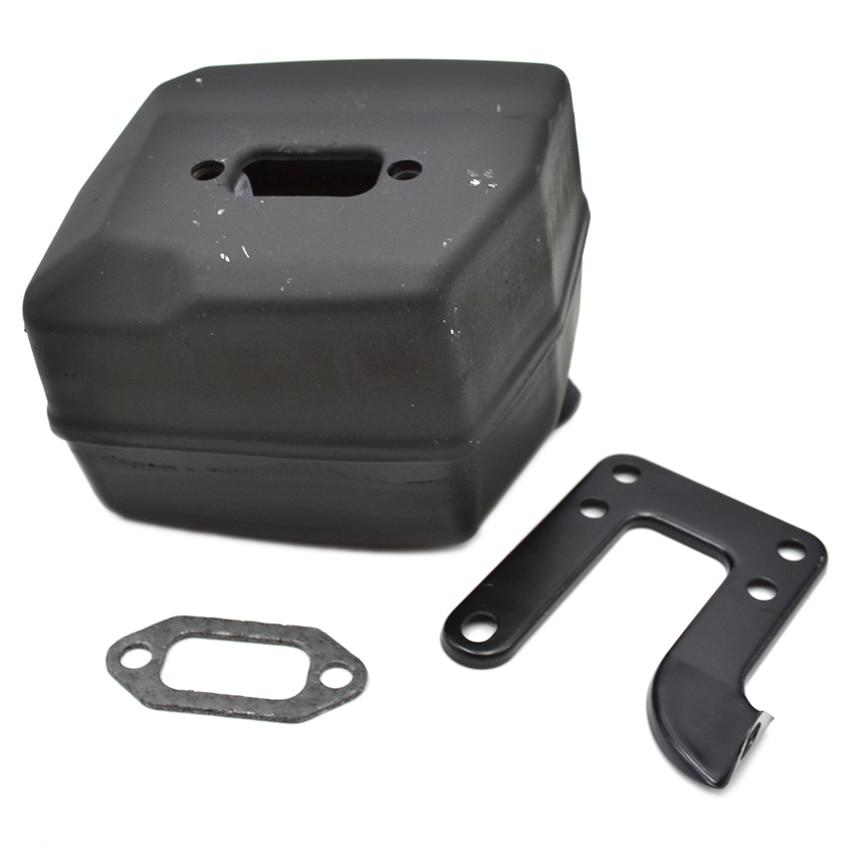 NEW Exhaust Muffler & Bracket Gasket Set  FIT HUSQVARNA Chainsaw 61 268 272 Parts chainsaw exhaust muffler with support gasket plate for husqvarna 61 66 162 266 268 272 chainsaws 503476901 503406402