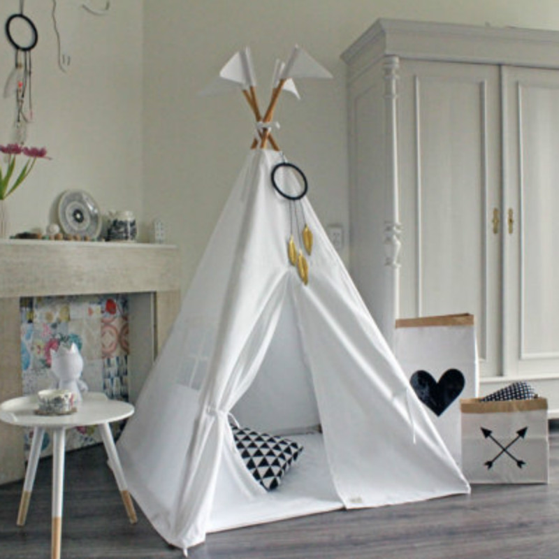 Kids Teepee Tent Cotton Breathable Tipi Game Tent For Children Play House For Baby Girl Boy Toy Prince Princess Castle