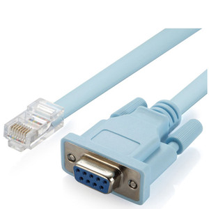 Image 5 - Cat5 Ethernet כדי Rs232 DB9 יציאת COM סידורי נקבה כבל באיכות גבוהה RJ 45 כדי DB רשת מתאם כחול 1.5 m 5Ft Mayitr 0508