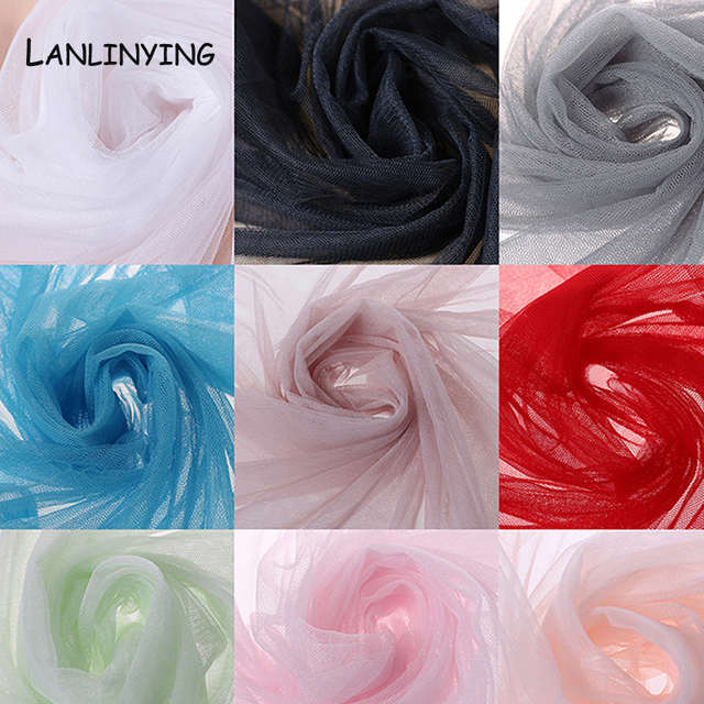 New Arrival 10meters/lot Soft Tulle Netting Fabric Mosquito Net Gauze Fabric Handmade Material For Pomp Skirt Curtain D407