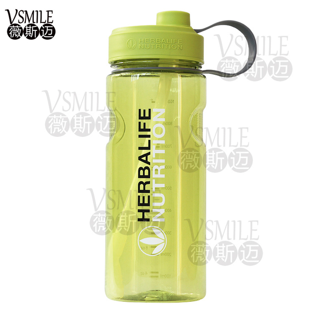 Factory Wholesale Herbalife Nutrition Milk Shake Bottle With Straw Inside Space Kettle BPA Free 1000ml Shipping
