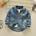 Мальчик весеннее пальто 2017 новый хлопок 1 лет весна и осень 3 Корейский младенца ковбой 5 детская куртка 4