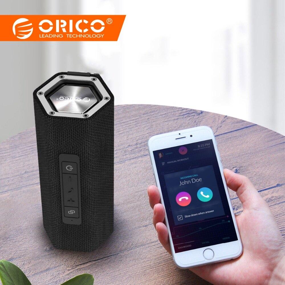 ORICO Портативный Bluetooth4.2 Беспроводной Динамик двойной бас 6-час игр 10 м Диапазон Bluetooth IPX5 сопротивление воды Поддержка AUX TF
