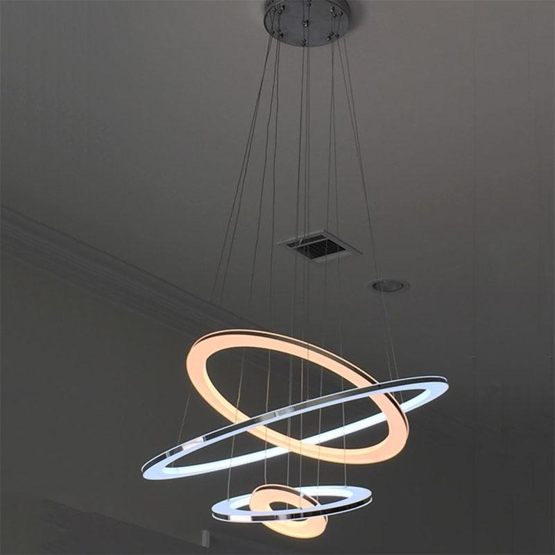 Nova LED svjetiljka s privjeskom Moderna kuhinja akrilna ovjes - Unutarnja rasvjeta - Foto 3
