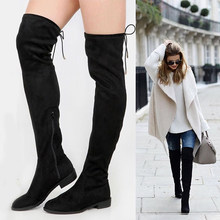 16bba54a1f Karinluna Brand new Trendy style plus size 34-43 Top Quality over knee  Boots Women's Shoes comfort Heels grils Boots Woman shoes