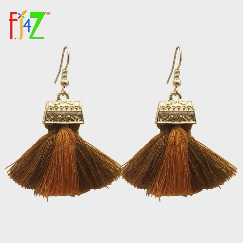F.J4Z Clearance Earrings Fashion Mink Fur Tassel Drop Earrings for Women Bijoux