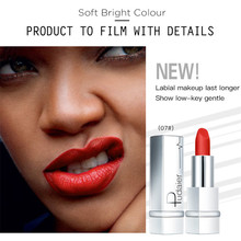 Купить с кэшбэком New Matte Lipstick Velvet Waterproof Lipstick Cosmetics for Makeup 17 Colors Sexy Red Brown Matte Makeup Lipsticks Lips Beauty