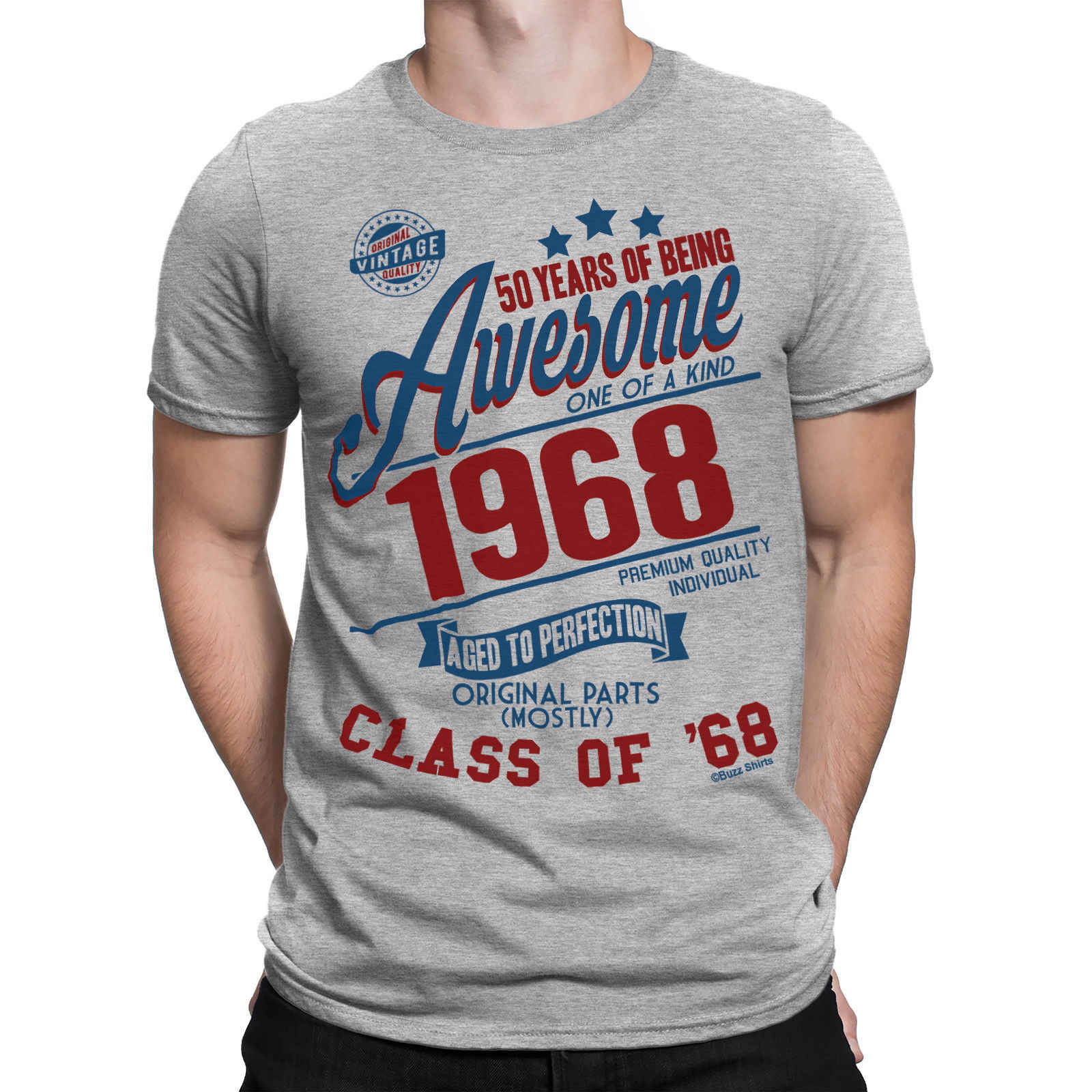 4a8a1c53 2019 Fashion Summer Style 50 Years Of Being AWESOME Mens 50th T-Shirt Class  of