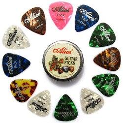 SEWS guitar picks, 12 colorful plectrum in one cute round metal box, acoustic electric musical instrument guitar pick randomclor