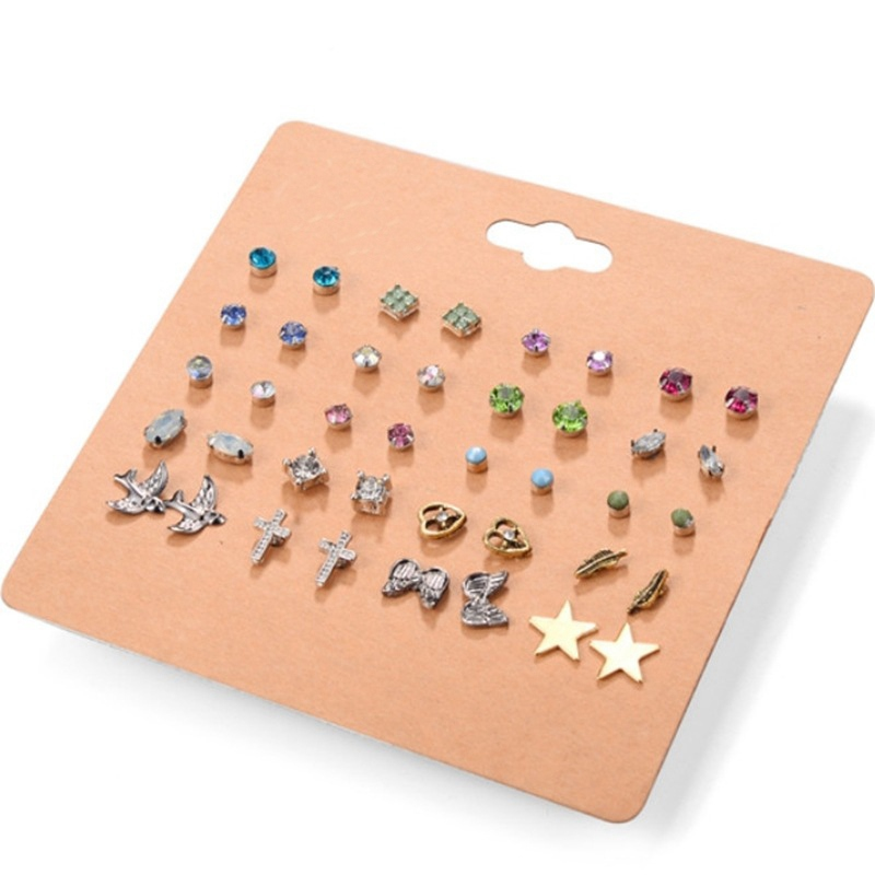 20 Pair/Set Fashion Female Stud Earring s