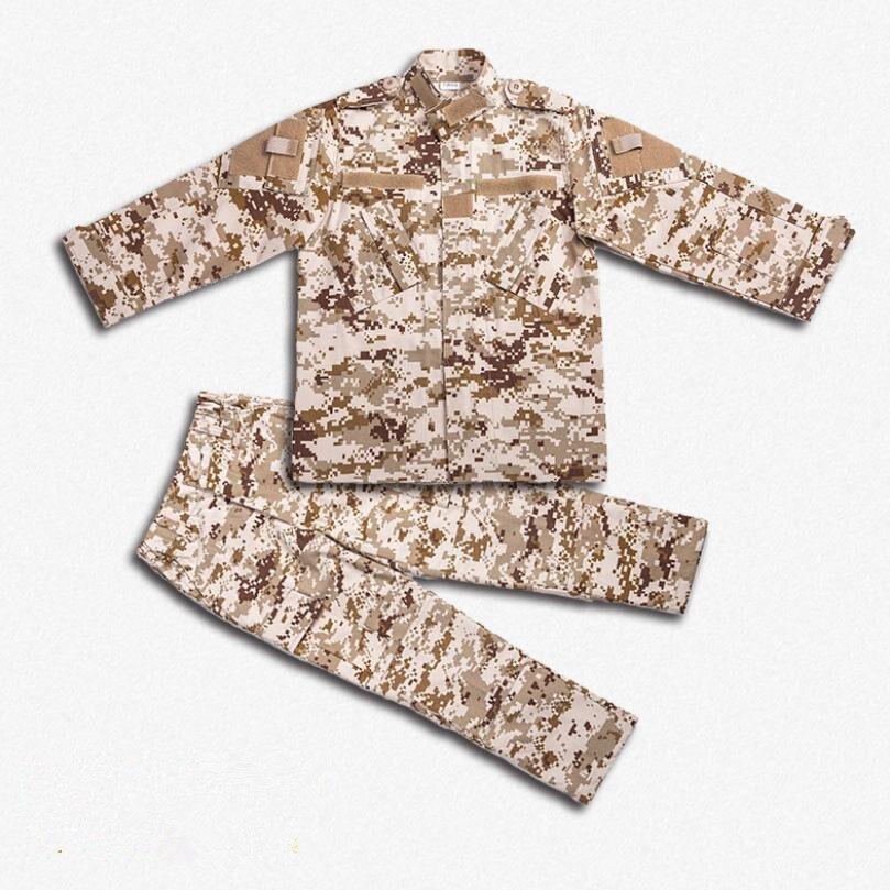 Enfants Camouflage ensembles 2019 bébé garçons filles vêtements mode armée uniforme sport enfants ensemble survêtement chasse vêtements unisexe Y417