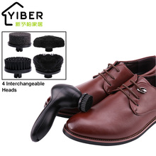 Zapatos eléctricos pulidor cepillo Kit mano zapatos brillo limpieza cepillo  Kit con 4 cabezas intercambiables para zapatos de cu. 78a19ab68c00