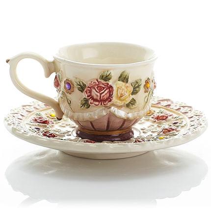 Belle personnalité jardin tasse créative après-midi thé rose thé tasse café tasse fruits jus tasse cadeau - 4