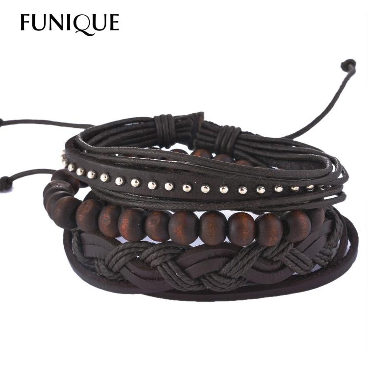 FUNIQUE Multilayer Bracelet Men Casual F
