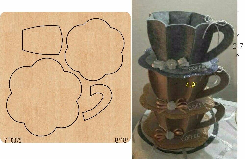 Coffee cup DIY wood mold cutting tool die YT0075
