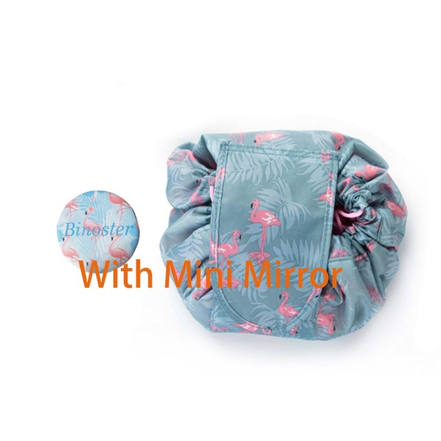 3035c43e5f5c US $0.99 |Large Capacity Lazy Makeup Drawstring Portable Waterproof Quick  Makeup Bag Pack Magic for Women Girls gift Small mirror-in Storage Bags  from ...