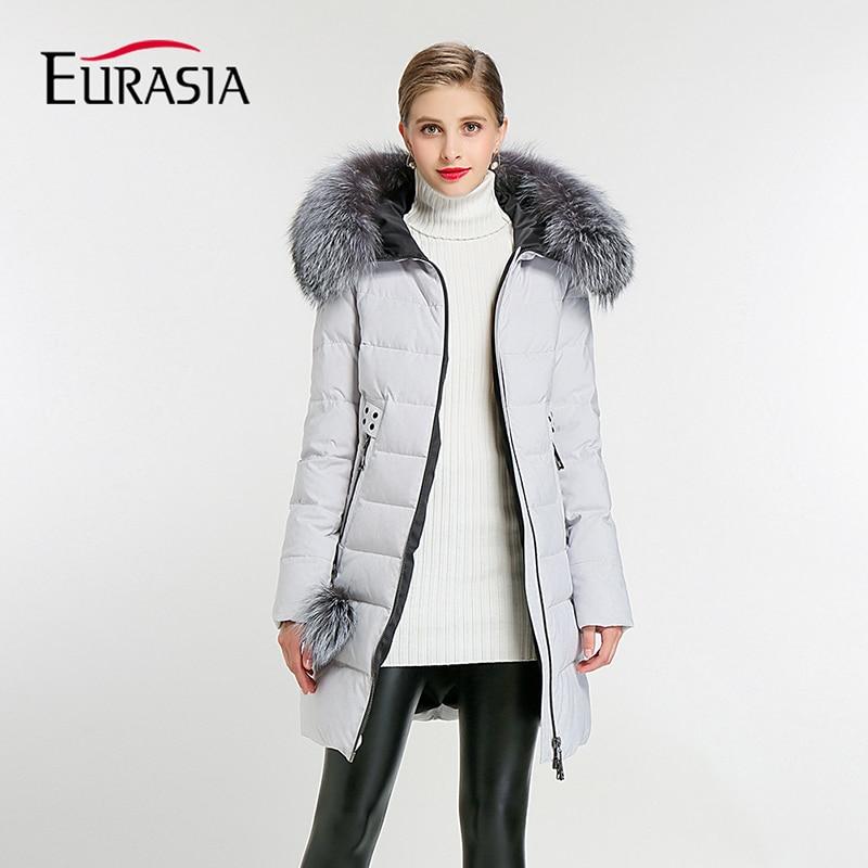 EURASIA Brand 2017 New Full Women Winter Jacket Hood Design Thick Coat Cotton Parka Style Jackets