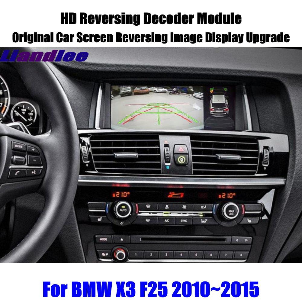 Liandlee For BMW X3 F25 2010 2015 HD Reversing Decoder Box Module Rear Parking Camera Image