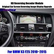 цена Liandlee For BMW X3 F25 2010~2015 HD Reversing Decoder Box Module Rear Parking Camera Image Car Screen Upgrade Display Update